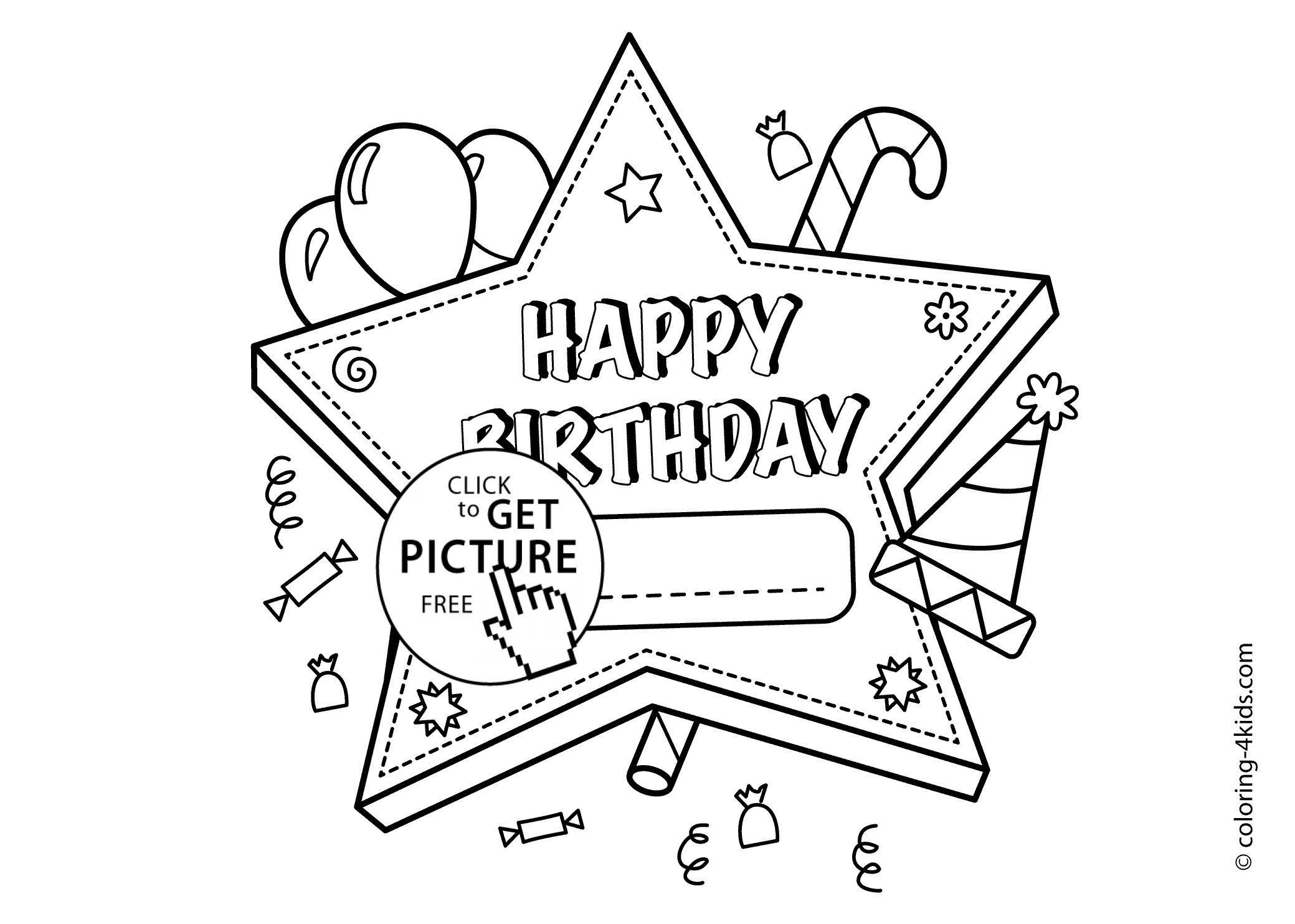 16 Coloring Pages Happy Birthday