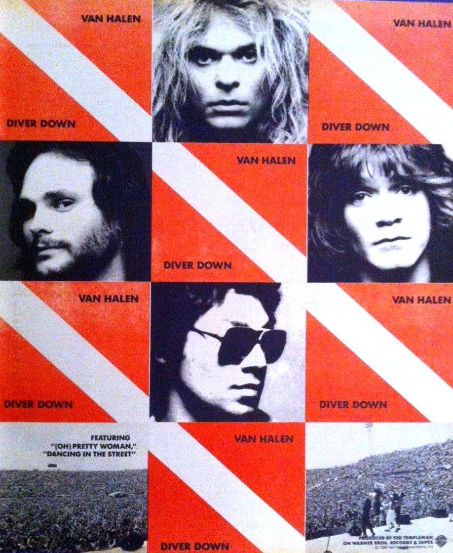 Van Halen Promotional Ad Https Www Facebook Com Fromthewaybackmachine Van Halen Van Halen Diver Down Eddie Van Halen