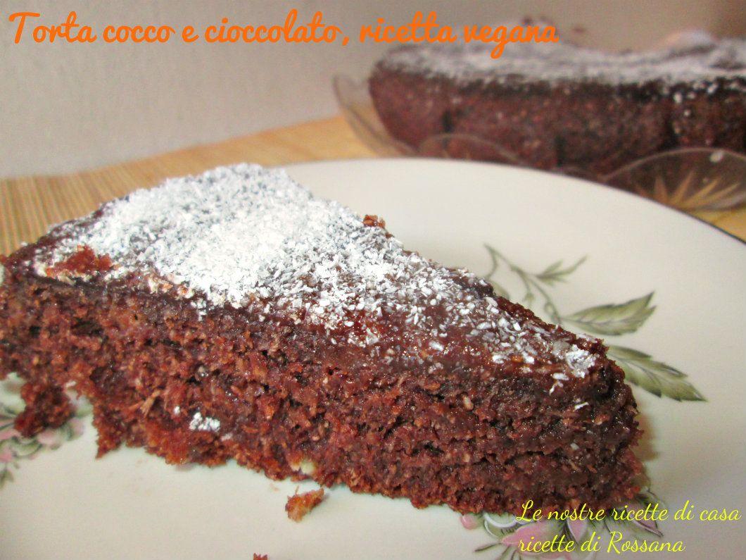 Torta cioccolato e cocco vegan