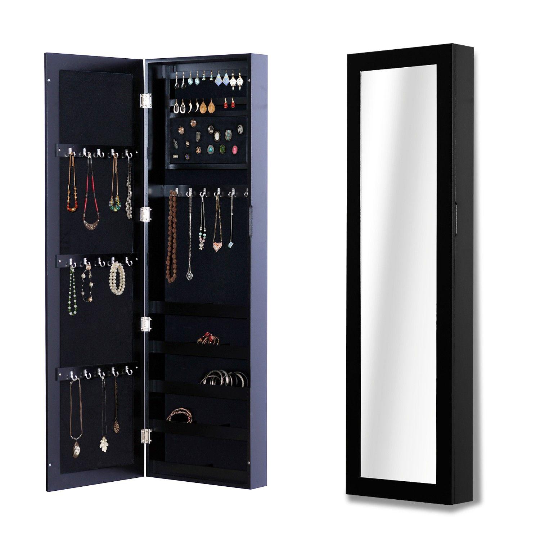 Armoire à bijoux avec miroir murale haut de qualité 37L x ...