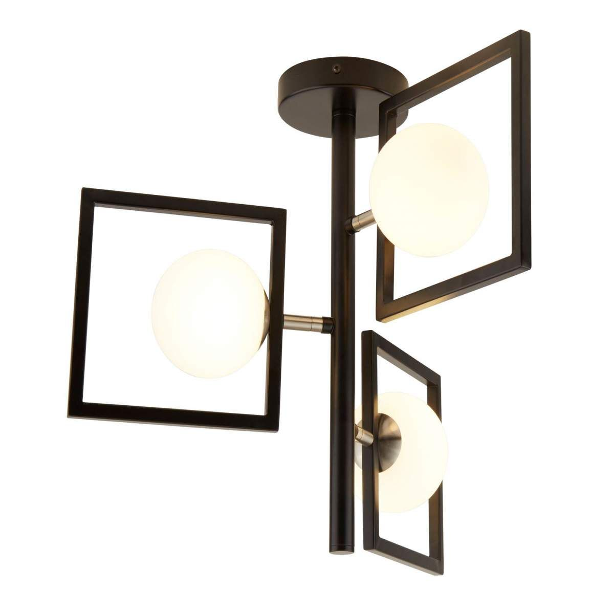 Deckenlampe Rosewell In Schwarz Weiss Von Searchlight Beleuchtung