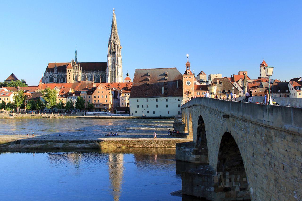<em>Regensburg, Germany</em> - #bavaria #bridge #city #cityscape #danube #europe #germany #my #old #on #photographers #photography #photos #regensburg #River #Stone #town #Travel #tumblr!
