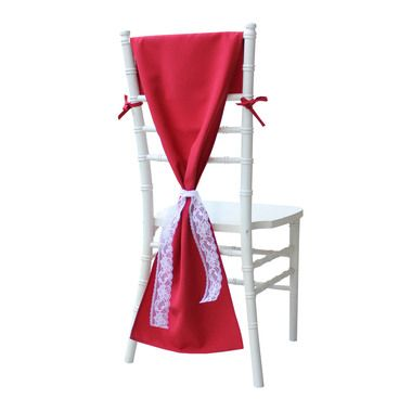 Red Chiavari Chair Hood, Red Chair Cover for Tiffany Chairs
