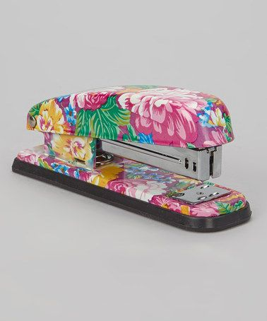 Take a look at this Pink Floral Stapler by Fig Design Group on - clerical tasks