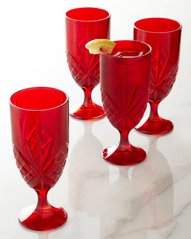 Godinger Dublin Iced Beverage Glasses Set Of 4 Glasses Drinking Glassware Design Iced Drinks