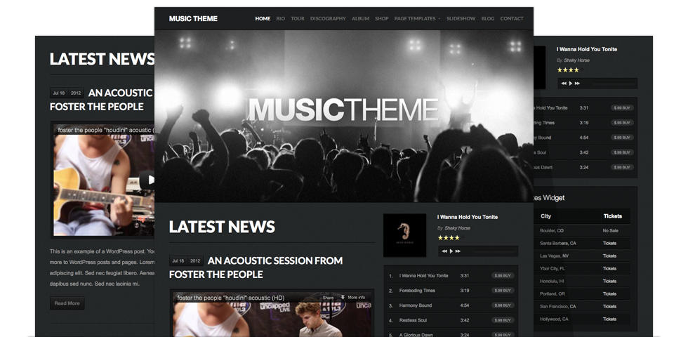 The WordPress theme for musicians by Organic Themes is a great ...