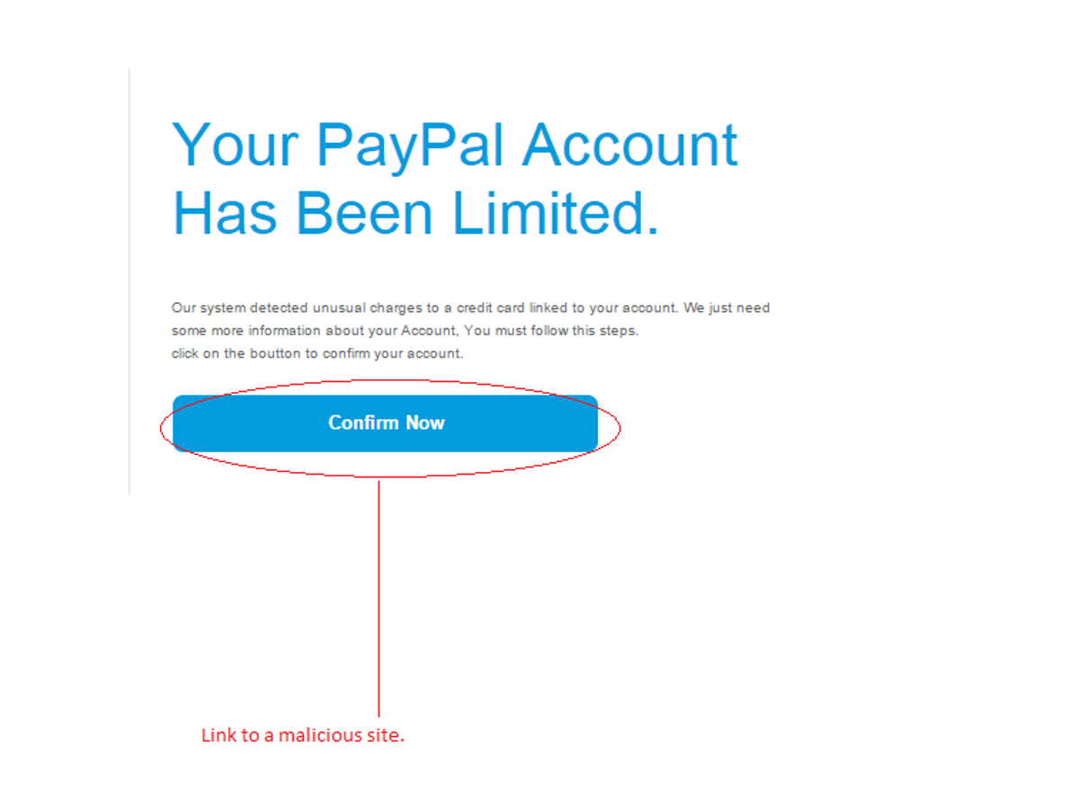 Unusual credit card charges warns fake email Credit card