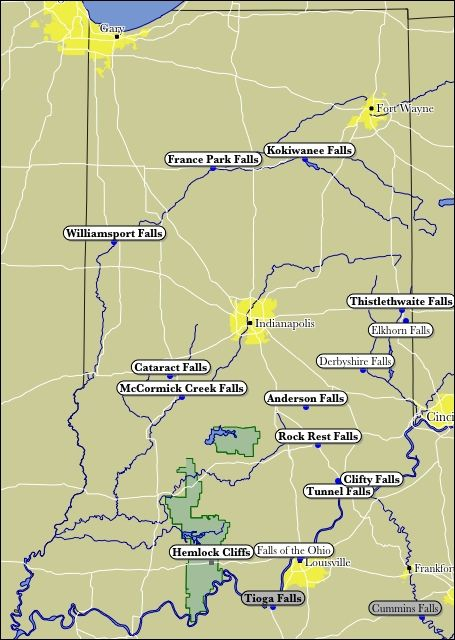 Map of Indiana WaterFalls | Home Sweet Home, Indiana in 2019 ... Indiana State University Map on black hills state university map, northeastern state university map, indiana state police map, pensacola state university map, indiana state travel map, southwest minnesota state university map, sul ross state university map, salisbury state university map, indiana state industry map, indiana state campus, university of sciences map, isu map, metropolitan state university map, indiana state map usa, mountain state university map, mississippi university map, kansas wesleyan university map, indiana state fair grounds map, medical university of south carolina map, armstrong state university map,