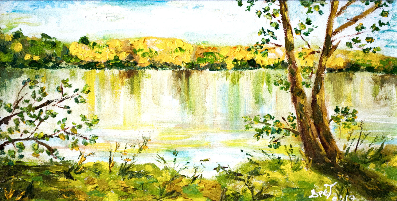 Oil painting on canvas Lake house art Beach house decor Wall art ...