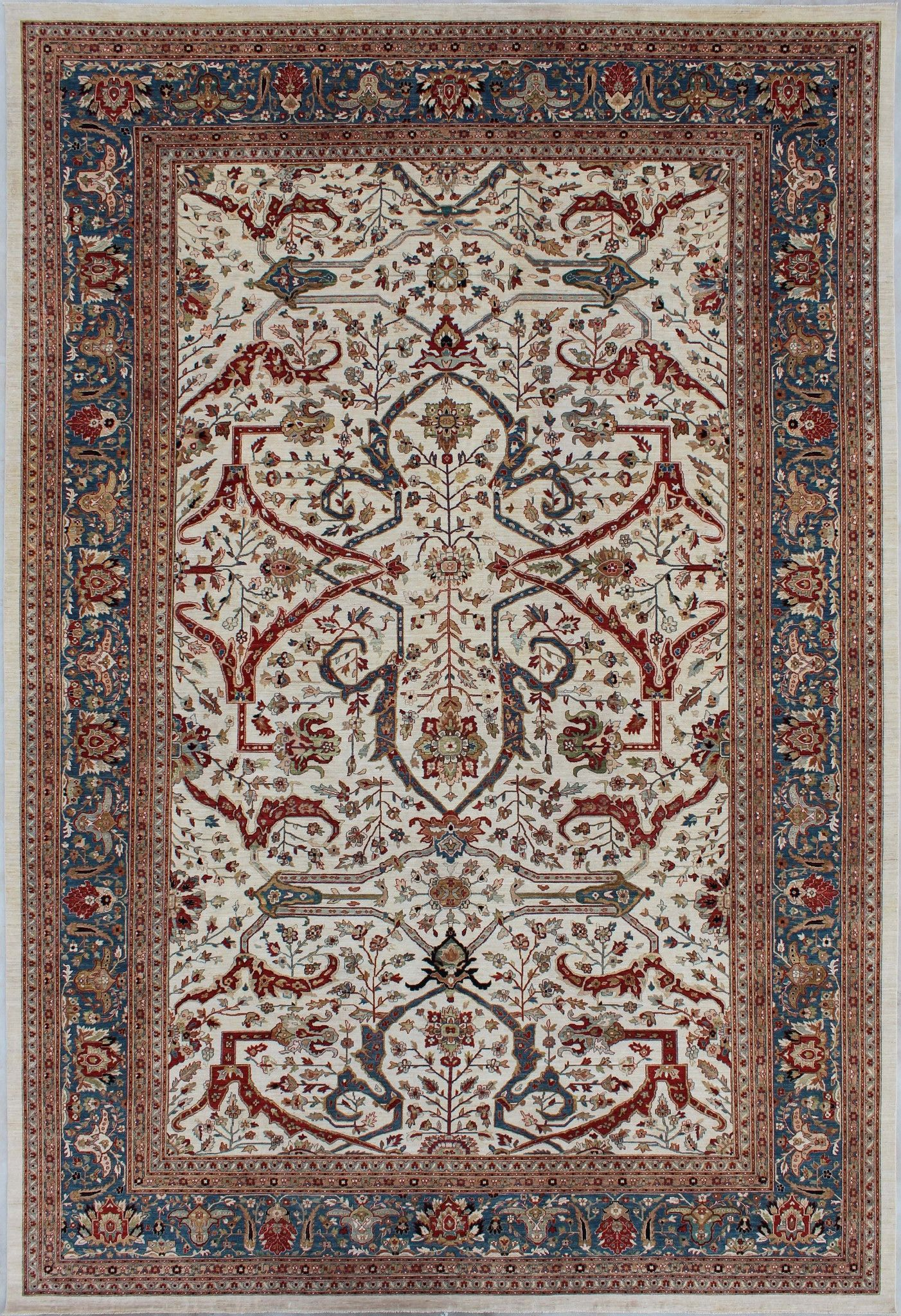 New Afghanistan Hand Woven Antique Reproduction Of A 19th Century Persian Ferahan Carpet 4 X 6 13 19