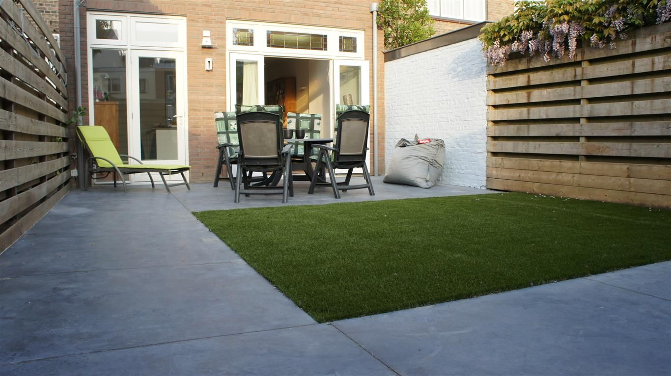 gevlinderd beton op terras met tegelpatroon 140 x 140 cm. Black Bedroom Furniture Sets. Home Design Ideas