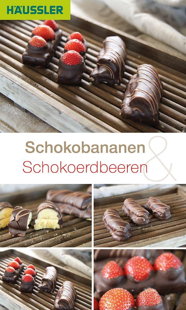 Köstliche Schokobananen oder Schokoerdbeeren, die Ihnen den Tag versüßen werden! Jetzt in der Häussler Rezeptdatenbank tolle Rezepte rund um leckere Desserts entdecken. #Schokolade #Erdbeeren #Bananen #Schokofrüchte #naschen #Naschkatze #Dessert #Obst #Früchte #essen #lecker #selbstgemacht #schoko #backen #Löffelbiskuit #Buttercreme #löffelbiskuitrezept