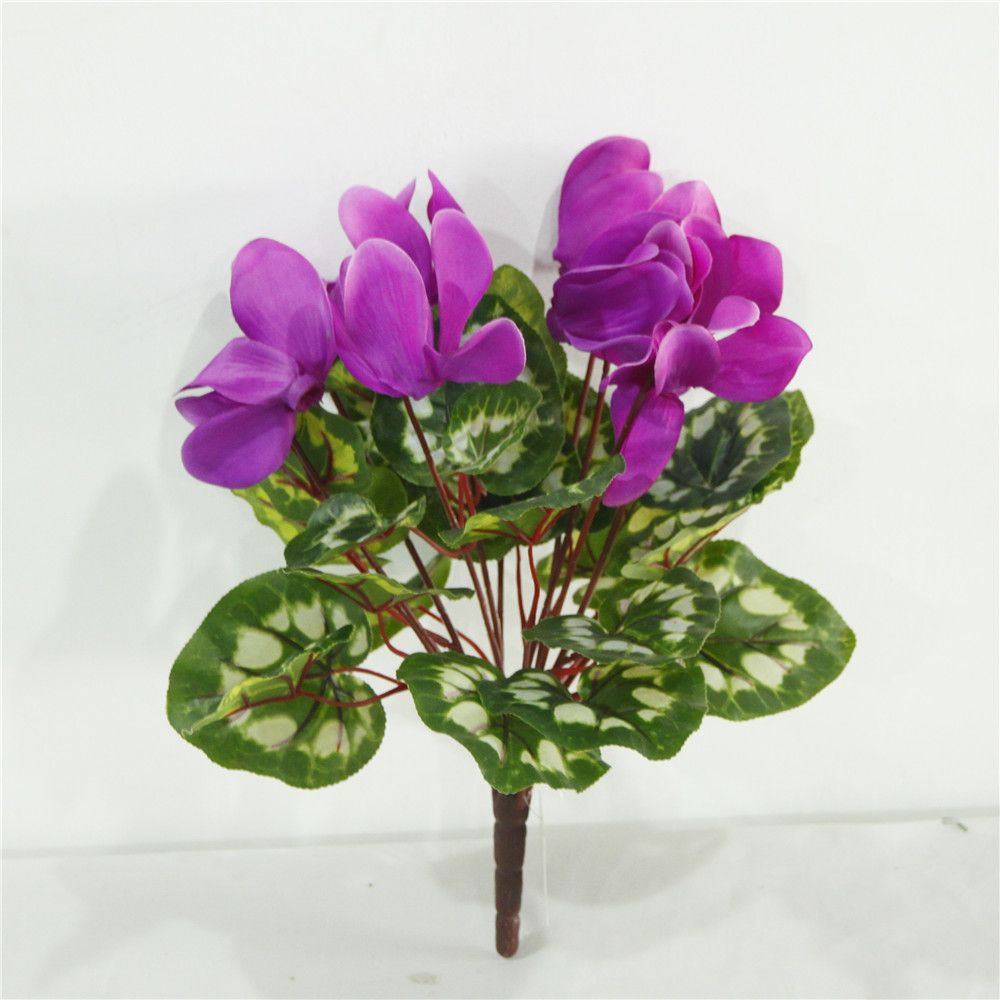 High Quality Decorative Simulation Cyclamen Flower Cheap Wholesale