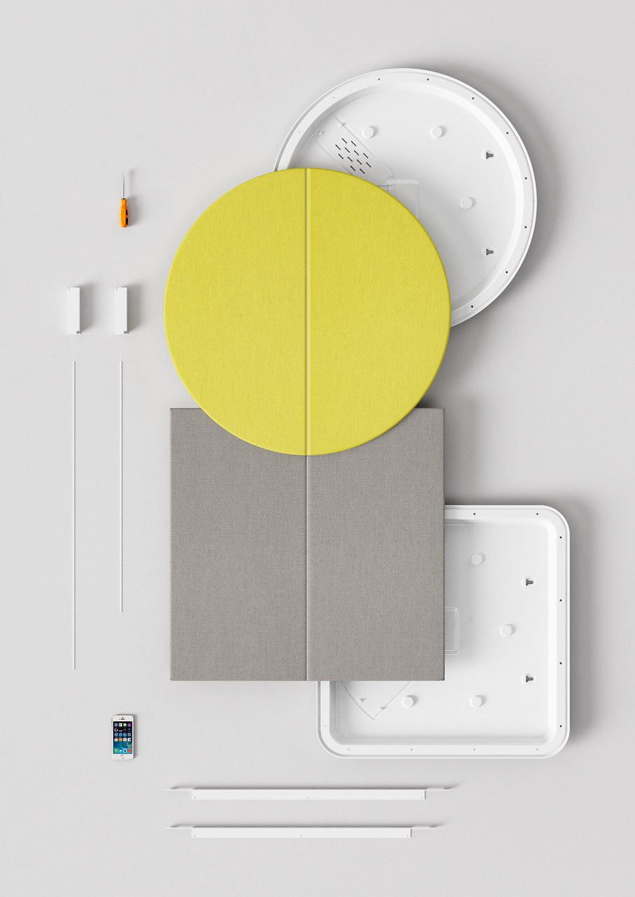 Geometric Acoustic Wall Panels by Arper in 2018 | Home Furnishings ...