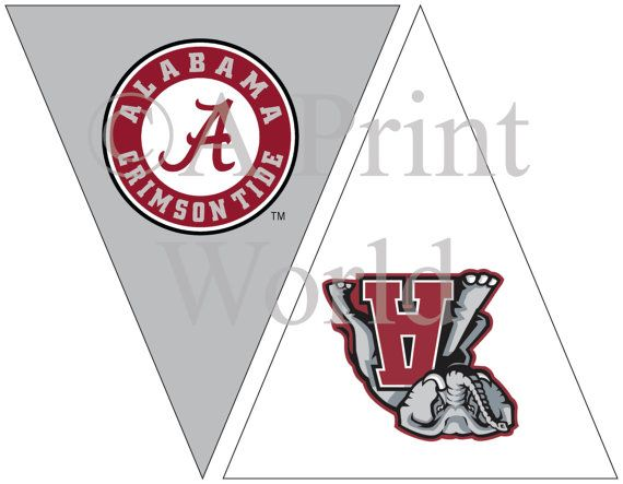 Alabama Roll Tide Printable Flags With University Of Alabama Logo