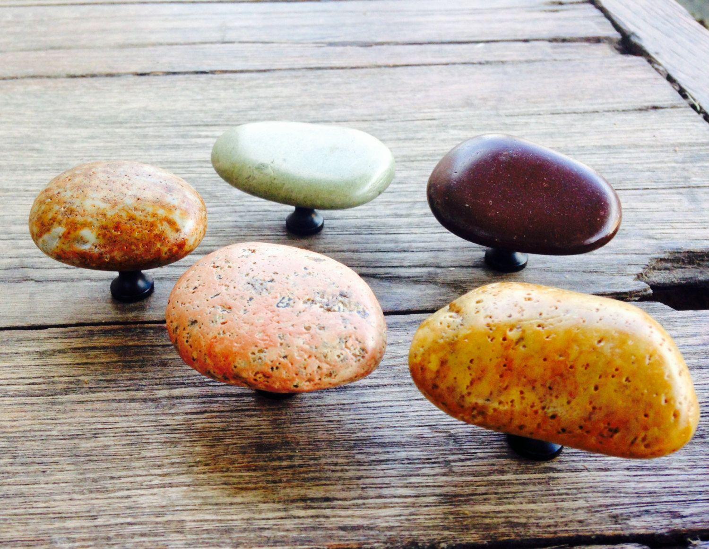 Attractive Idaho Natural River Rock Cabinet Hardware