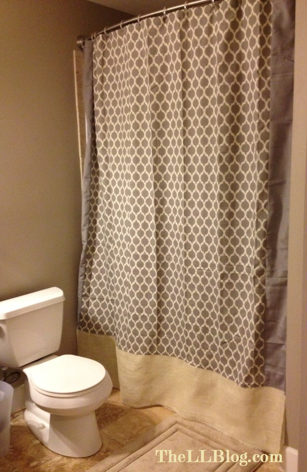 Shower Curtain Love Diy Tutorial To Making A Longer And Adding Drama The Bathroom Really Pretty Look