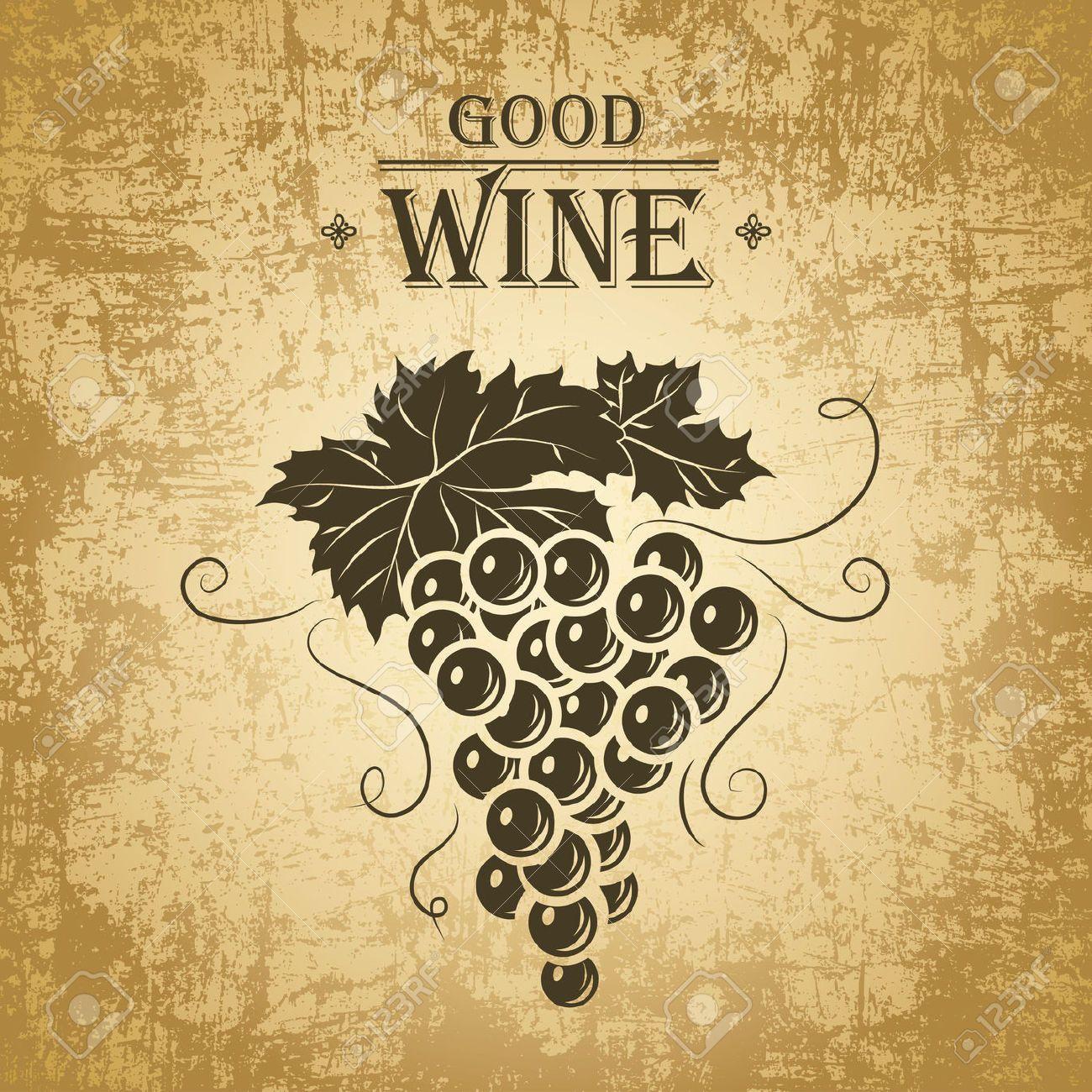 23973792-Wine-label-with-grapes-Wine-menu--Stock-Vector.jpg (1300 ...