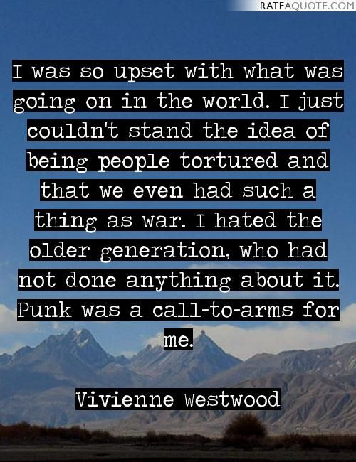 """Image result for """"vivienne westwood"""" + """"punk"""" + """"quote"""""""