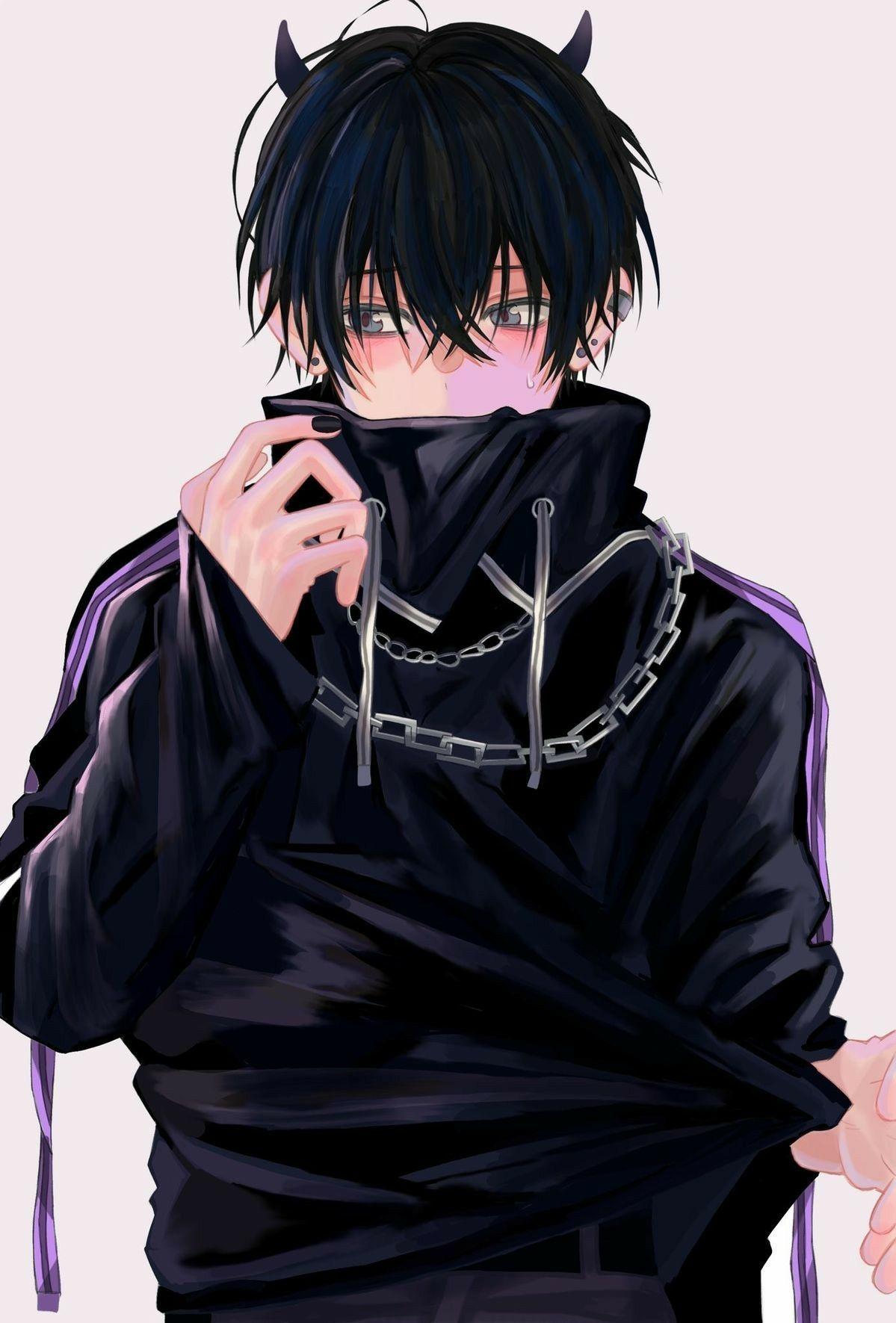 Pin On Bad Girl Anime guy wallpaper black