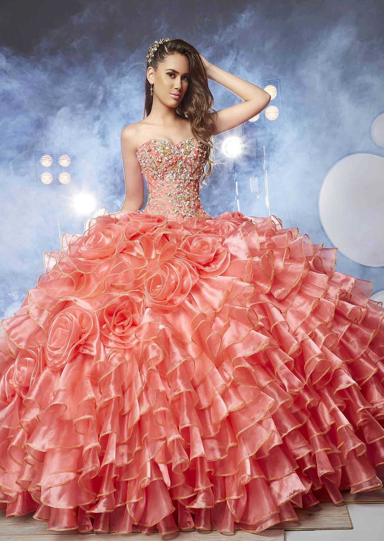 Quinceañera Dresses Ragazza, Morena Esencial, Coleccion Desigual ...