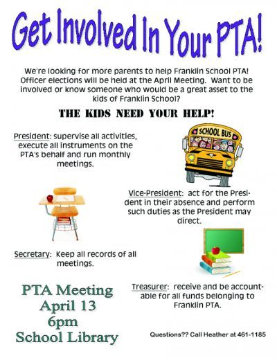 pta officer elections in april | PTA | Pta school, Pto meeting
