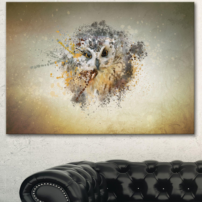 Designart ularge gracing owlu animal art on canvas products