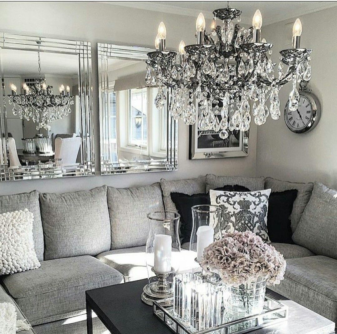 Pin by Yaya Mlle on Home decor ideas  Silver living room, Elegant