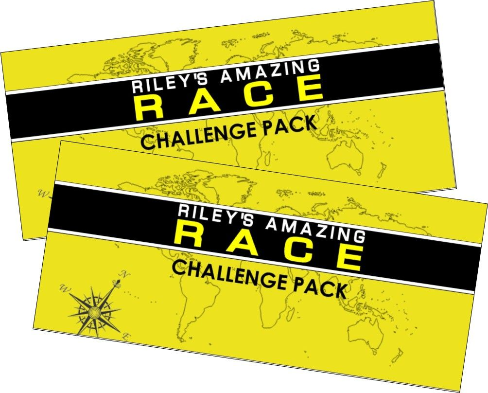 ticket invitation templates printable ticket invitations amazing race party supplies and printables including invitations pit stop clue cards water bottle
