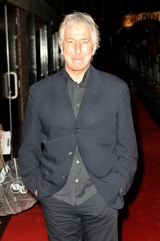 """October 20, 2008 -- Alan Rickman arriving for the premiere of """"Rachel Getting Married."""""""