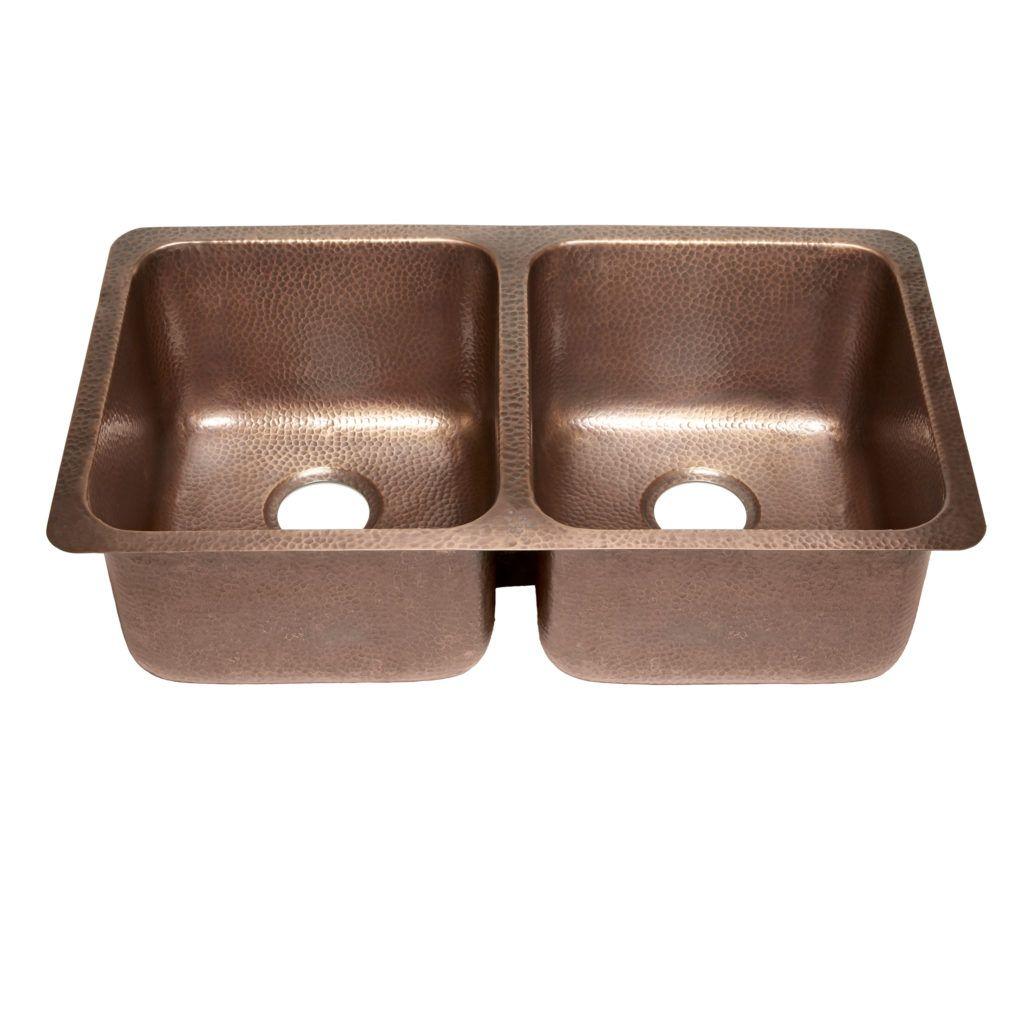 45 Degree View Of Rivera Undermount 16 Gauge Copper Kitchen Sink Copper Kitchen Sink Copper Sink Copper Kitchen
