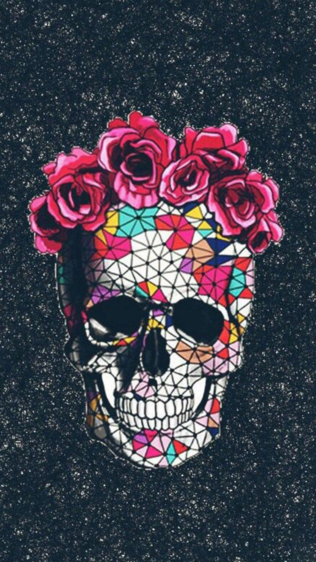 1080x1920 1080x1920 Colorful Skull Roses Space Iphone 8 Wallpaper A Download A Advertise Here Skull Wallpaper Skull Tumblr Wallpaper