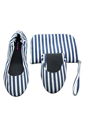 Tipsy Feet Nautical Blue Foldable Shoes 25 00