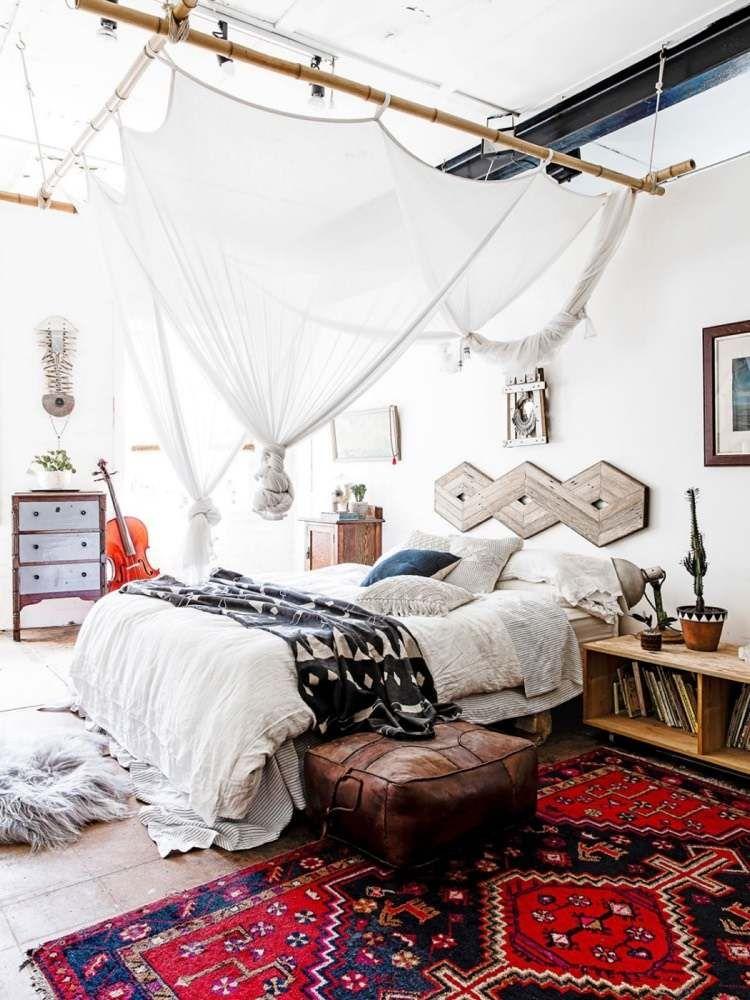 Chambre bohème blanche et pleine de charme pour un chez soi cosy