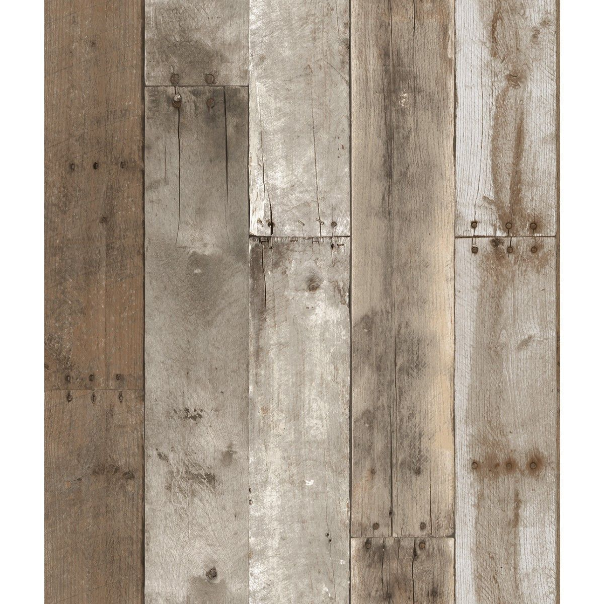 Repurposed Wood Weathered Textured Self Adhesive Wallpaper
