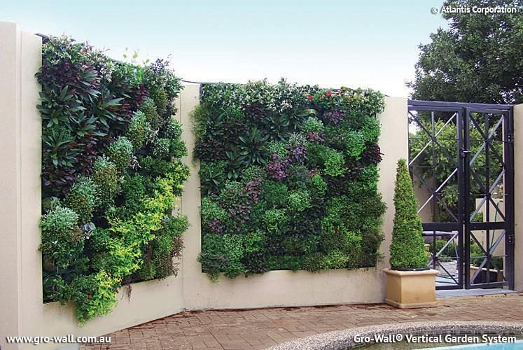 Gardening Design Ideas Part - 39: Create Lush, Beautiful Vertical Gardens, Indoor Or Outdoor With Atlantis  Gro-Wall® Modules. Vertical Gardens Are Created With Ease Utilising Natural  Soil ...