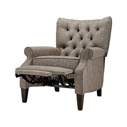 Easton 33  Upholstered Tufted Recliner in Elmont Ink  sc 1 st  Pinterest & Easton 33