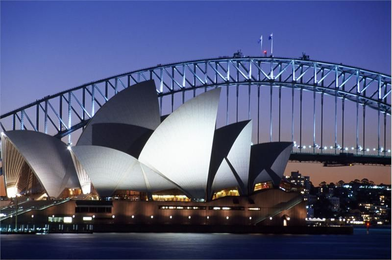 The Sydney Opera House in New South Wales Australia By Danish