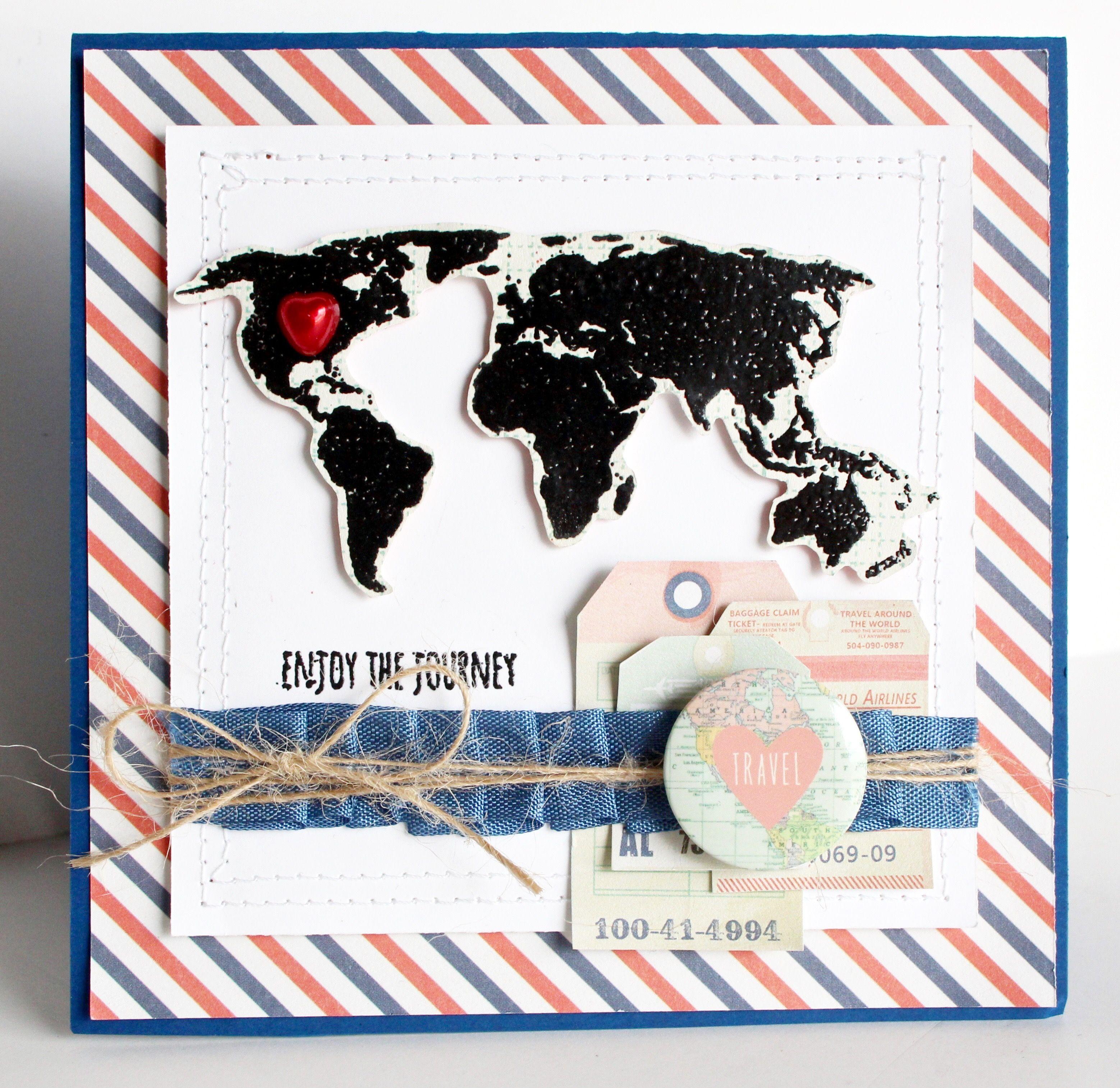 Journey scrapbook ideas - Enjoy The Journey Scrapbook Com Fabulous Handmade Bon Voyage Card