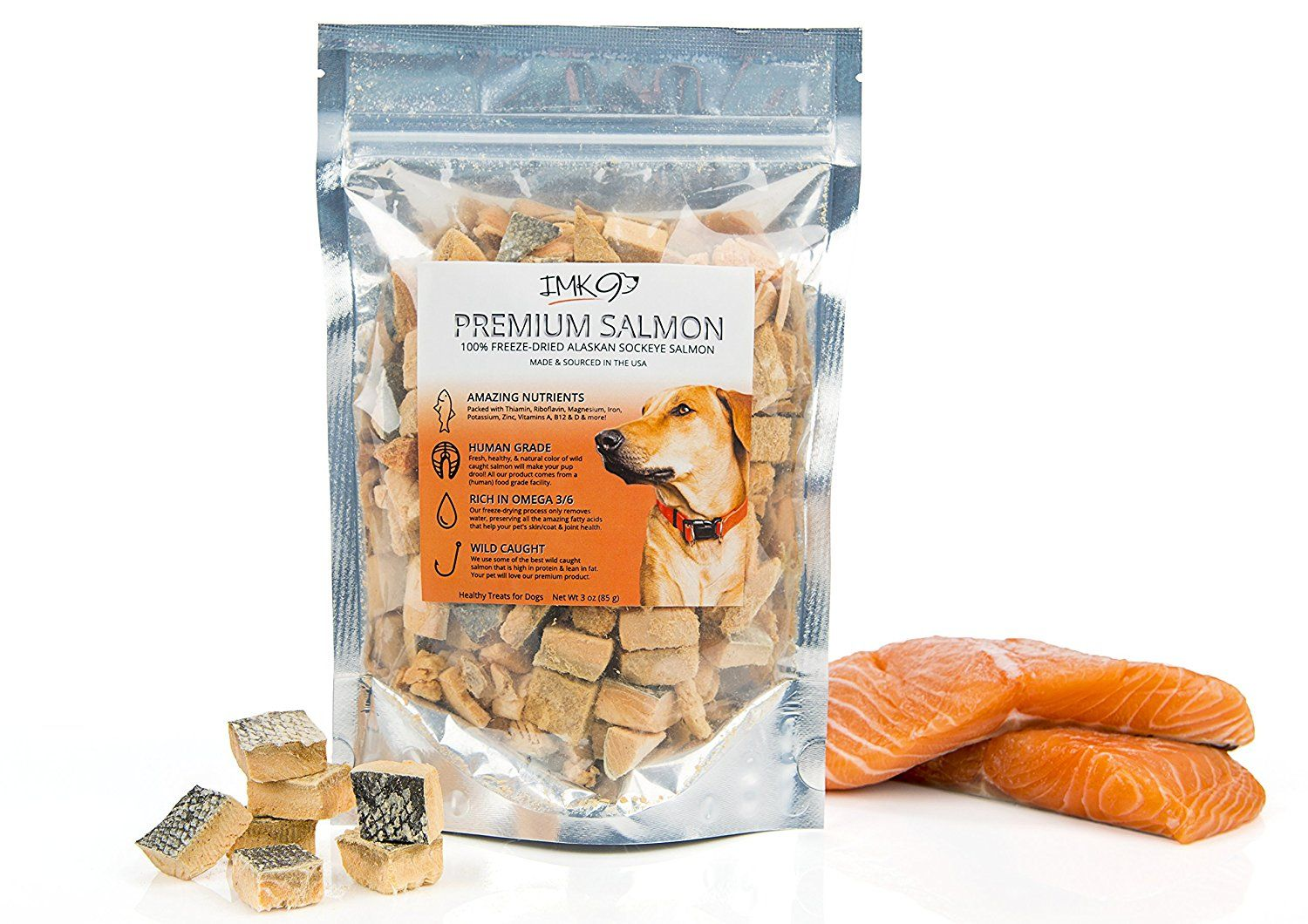 Salmon Dog Treats Made in USA All Natural Wild Alaskan