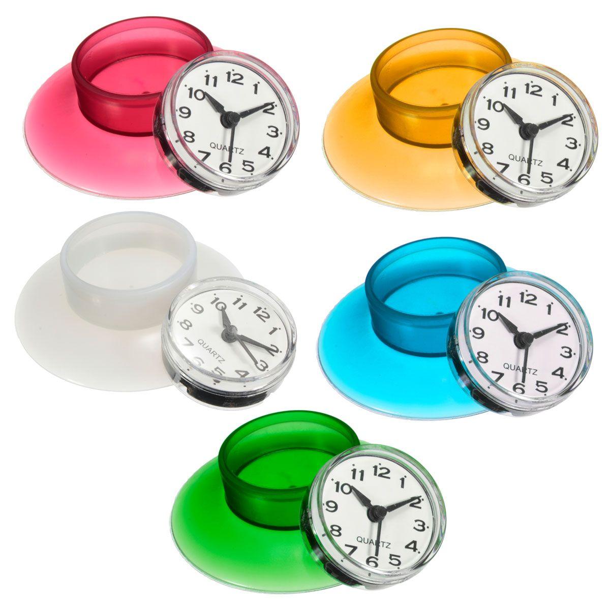 Honana Bx 103 Bathroom Waterproof Wall Clock Resistant Timer Suction Cup Wanduhren Silikon Farben Und Uhren