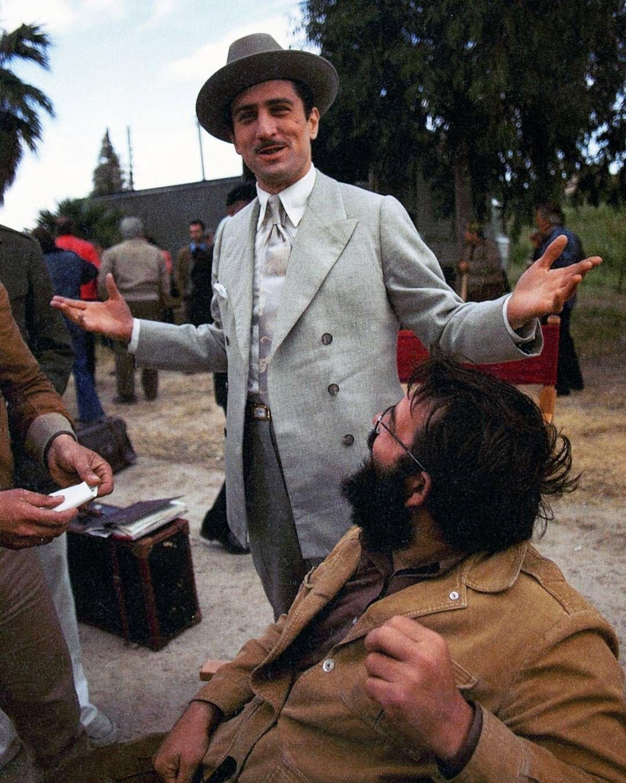 - #francisfordcoppola and #robertdeniro on the set of #thegodfather