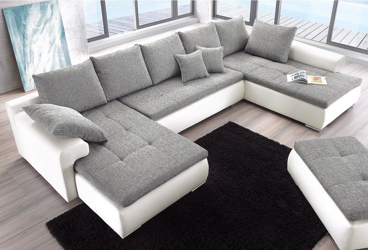 Wohnlandschaft Wahlweise Mit Bettfunktion Living Room Sofa Set Sofa Bed Design Living Room Sofa Design