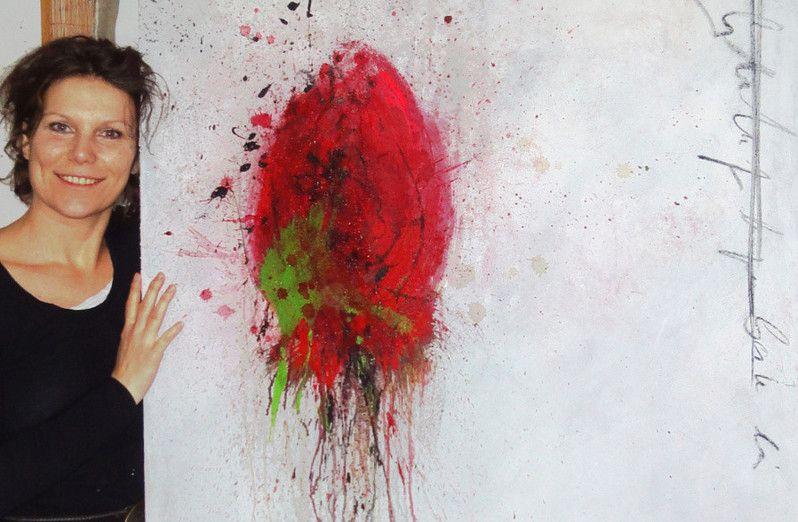 Bild abstrakt verkauft acrylmalerei spachteltechnik - Spachteltechnik wand ...