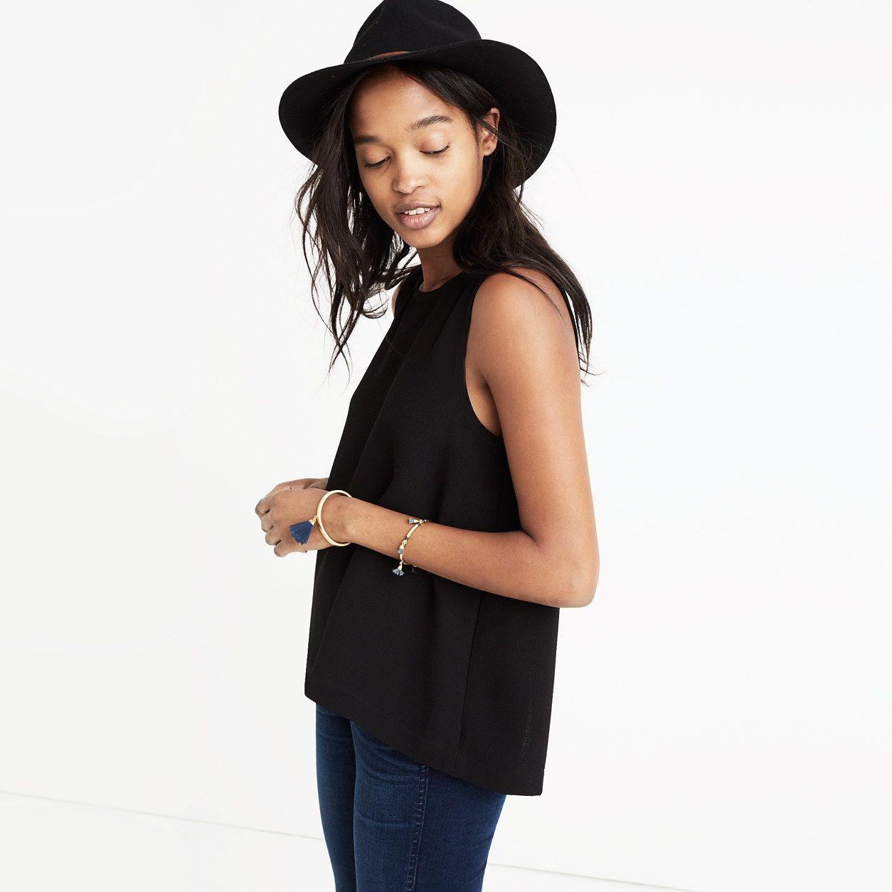 Daynight Split-Back Tank Top : tops & blouses   Madewell