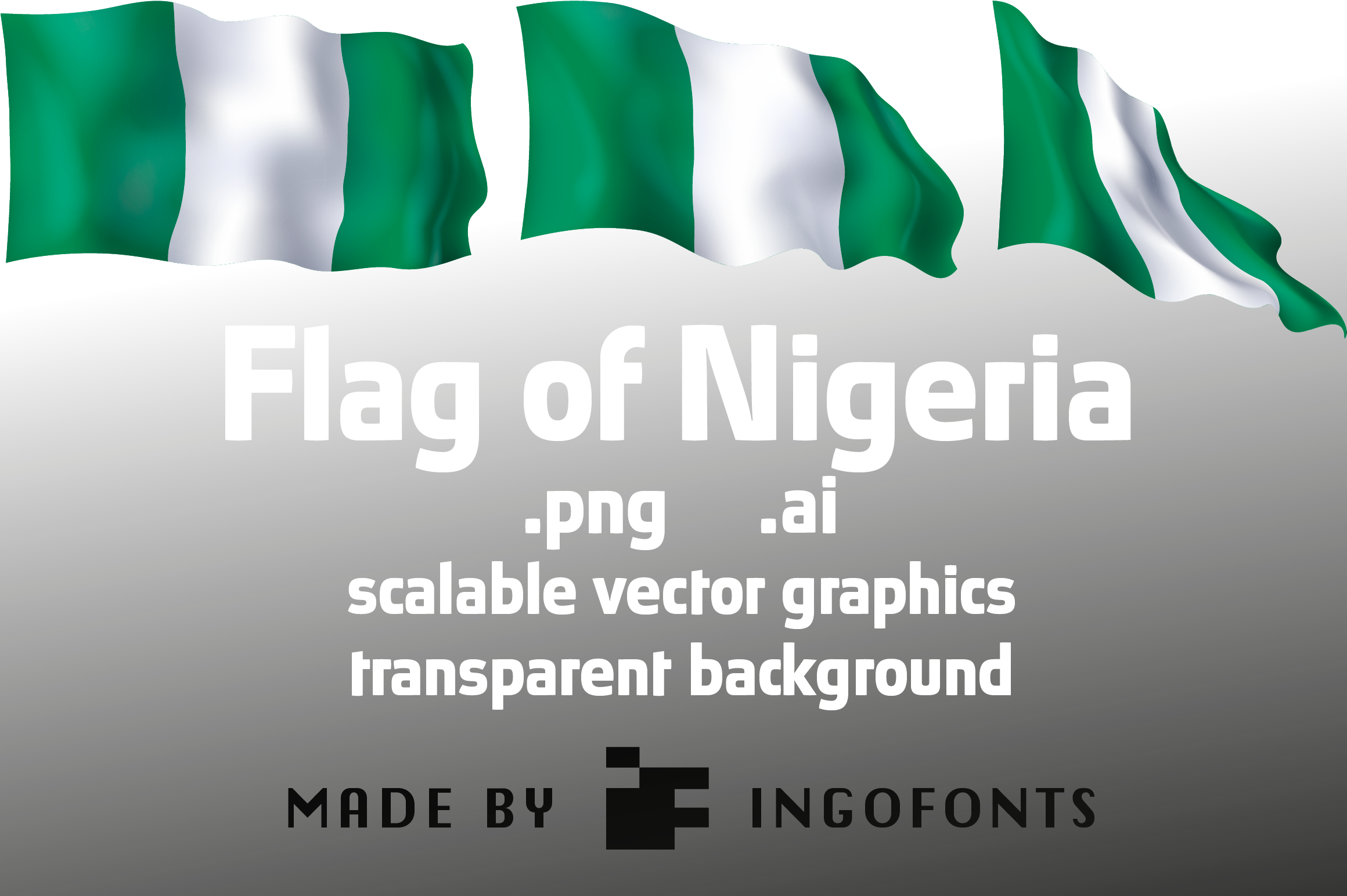 Flag Of Nigeria Graphic By Ingofonts Creative Fabrica