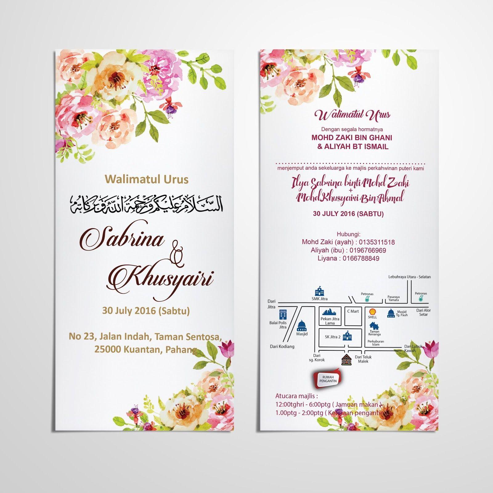 Template Kad Kahwin Gratis Berbagai Bekalan Rumah