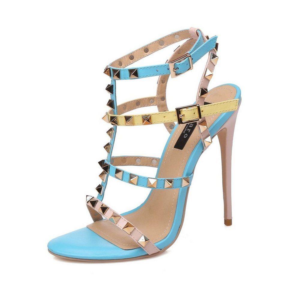 Giaro Sandaletten in Übergrößen, blau, Blau