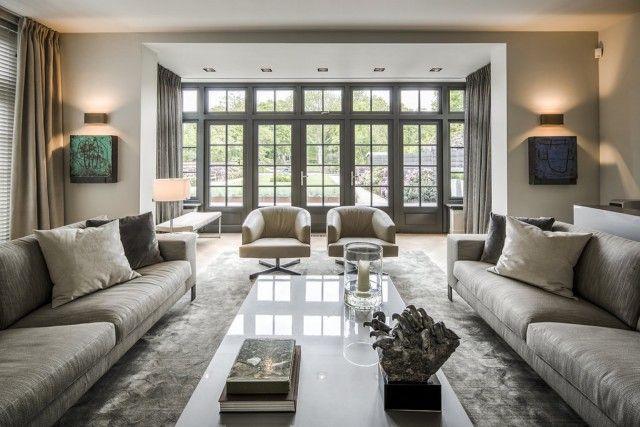 Moderne woonkamer met design meubels | woonkamer ideeën | living ...