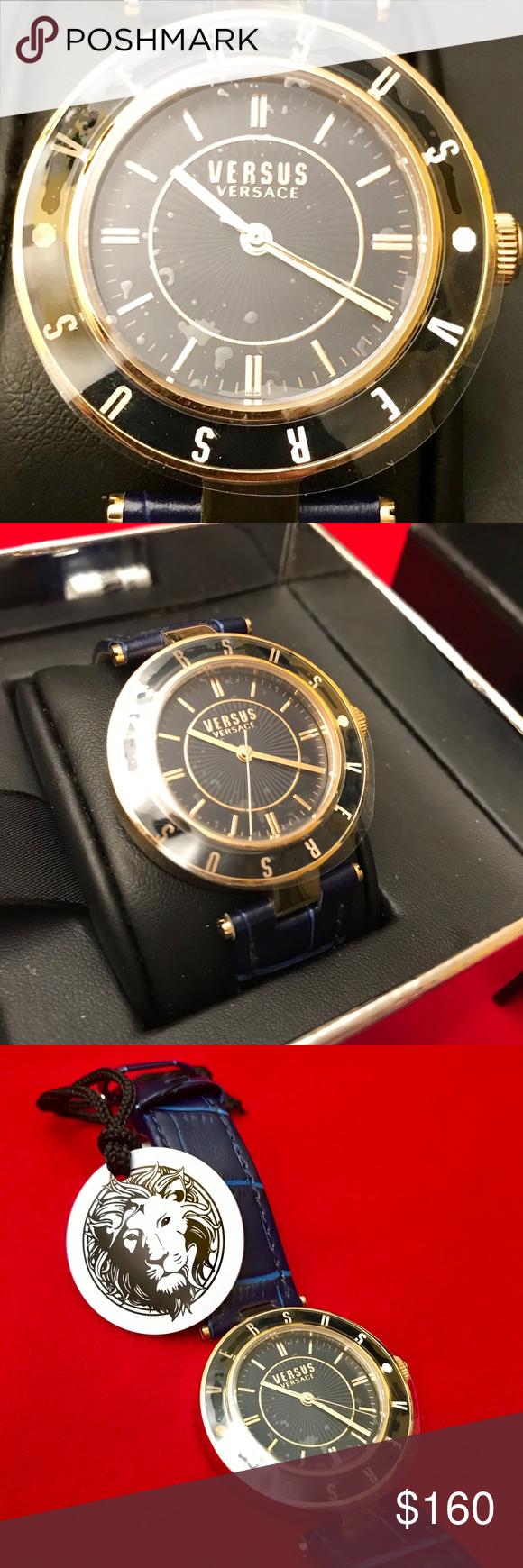 Versace Womens Classic Gold Logo Quartz Watch Classic Gold Jewerly Accessories Gold Logo